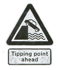 Tipping point ahead.